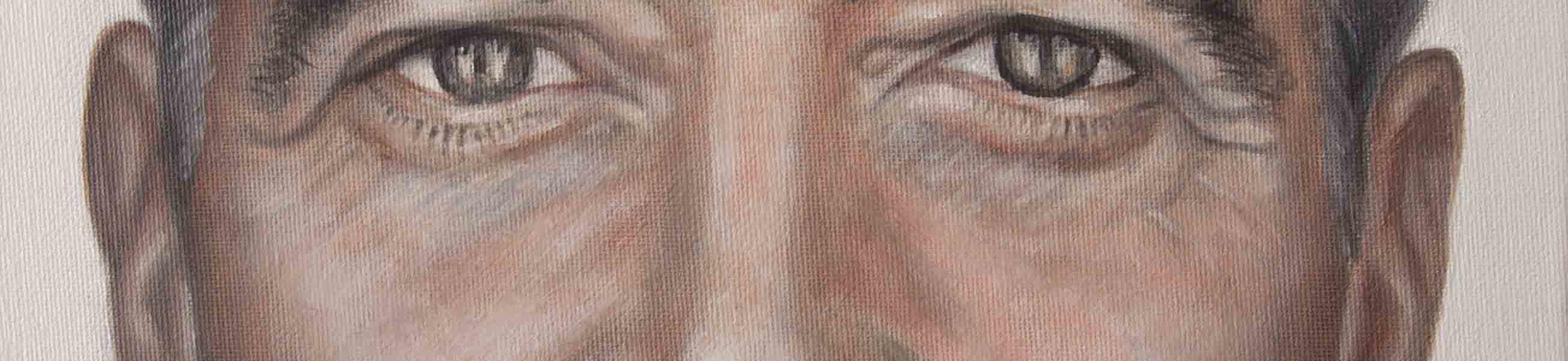 Sandro Ferrucci - ritratto di George Timothy Clooney - olio su tela 40x30 cm. - anno 2017