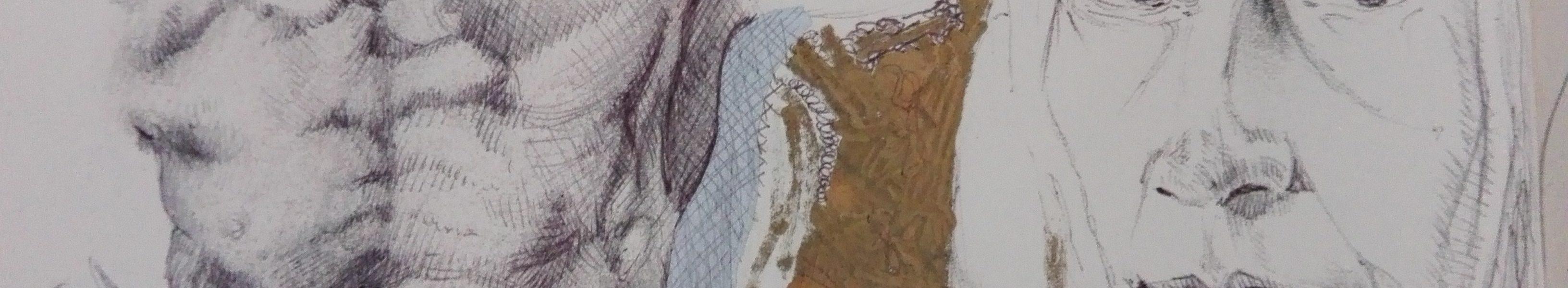 Sandro Ferrucci - inchiostro su carta - anno 1988 - dettaglio da blocco schizzi