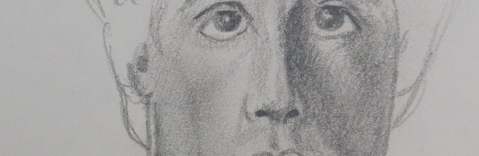 Sandro Ferrucci - Grafite su carta - anno 1990 - ritratto di Silvester Stallone dettaglio da blocco schizzi